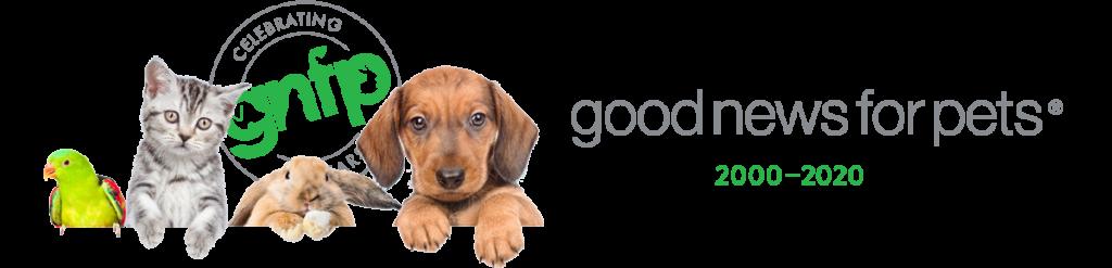 Goodnewsforpets 20th Anniversary Logo